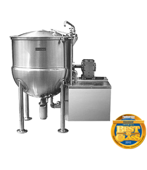 Horizontal Agitator, Cook/Chill Stationary Mixer Kettle, 300 Gallons capacity, d