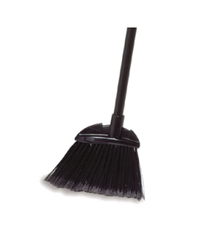 Lobby Dust Pan Broom, polypropylene fill, black