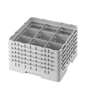 """Camrack® Glass Rack, with 5 extenders, full size, 9 compartments, 5-7/8"""" max. di"""