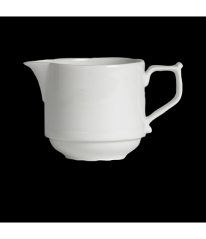 "Creamer, 8-1/2 oz., 5-1/8"" x 3-1/8"", handled, porcelain, Rene Ozorio Concerto (U"