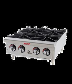 "Star-Max® Hotplate, countertop, gas, 24"" wide, (4) 25,000 BTU burners, manual co"