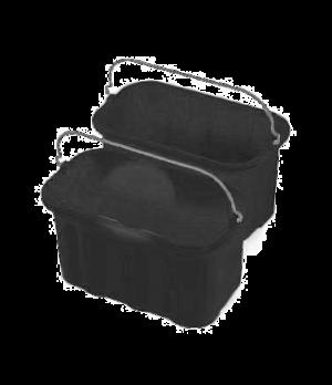 """Sanitizing Caddy, 10 qt., 7-1/2"""" L x 14"""" W x 8"""" H, 10 qt., black"""