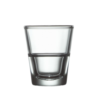 Shot Glass, 1-1/2 oz., non-tempered, glass, stackable, Arcoroc, Stack Up ( H 2-3