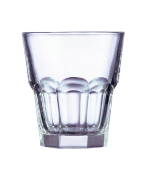 "Rocks Glass, 10 oz., fully tempered, Arcoroc, Gotham (H 3-3/4""; T 3-1/2""; B 2-1/"