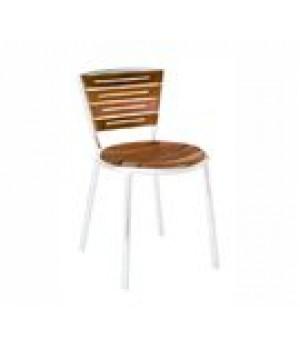 Karen Stacking Side Chair, outdoor/indoo