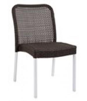 Rita Stacking Side Chair, outdoor/indoor