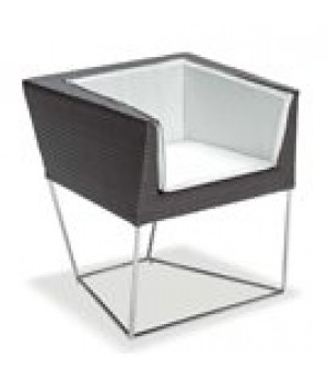 Cube Armchair, outdoor/indoor, woven all