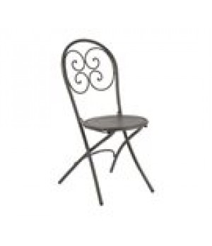 Pigalle Folding Side Chair, outdoor/indo