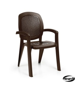 Creta Wicker Armchair - Caffe