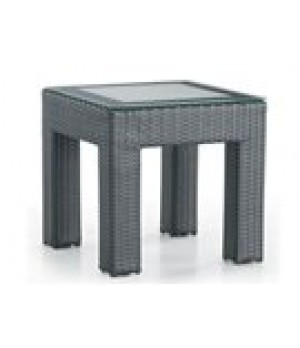 "22"" X 22"" FROSTED GLASS TOP END TABLE 22in W x 22in D x 22in H"