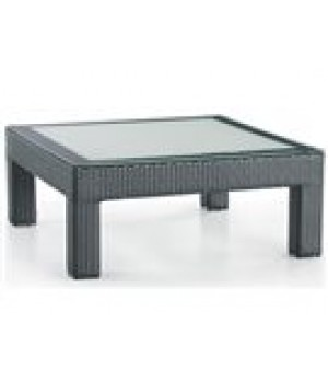 "40"" X 40"" FROSTED GLASS TOP CHAT TABLE 40in W x 40in D x 17in H"