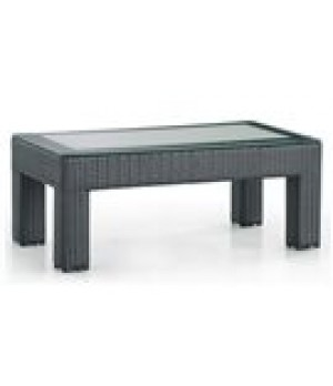 "22"" X 42"" FROSTED GLASS TOP COFFEE TABLE 42in W x 22in D x 17in H"