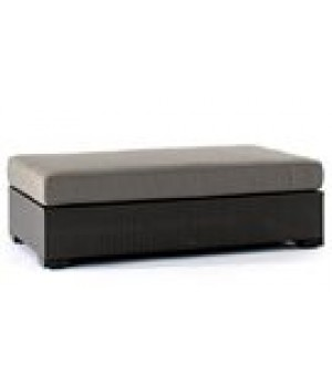 WOVEN DOUBLE SECTIONAL OTTOMAN 48in W x 24in D x 17in H