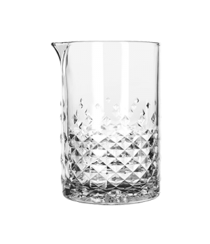 Carats Stirring Glass, 25-1/4 oz., pour spout, retro-inspired cut glass look (H
