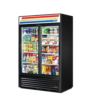 Refrigerated Merchandiser, two-section, (8) shelves, laminated vinyl exterior, w