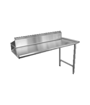 "(28479) Dishtable, clean, 60""W, straight design, right side, stainless steel"