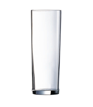 "Beverage Glass, 10-1/2 oz., fully tempered, glass, Arcoroc, Tubo, (H 6-3/8""; M 2"