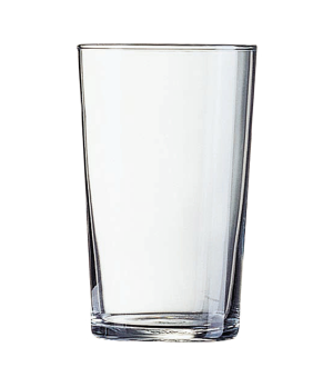 "Tumbler Glass, 8-1/4 oz., fully tempered, glass, Arcoroc, Conique, (H 4-1/8""; M"
