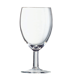 "Wine Glass, 4 oz., glass, Arcoroc, Savoie, (H 4-1/2""; M 2-1/4"")"