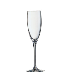 "Champagne Flute Glass, 5-3/4 oz., glass, Arcoroc, Signature (H 8-3/4""; T 2""; B 2"