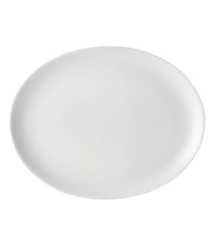 "Plate, 12"" dia. (30 cm), oval, coupe, rolled edge, flat, microwave & dishwasher"