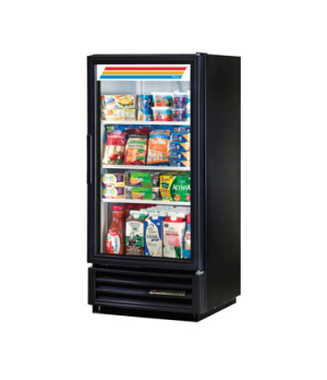 Refrigerated Merchandiser, one-section, (3) shelves, black vinyl exterior, white