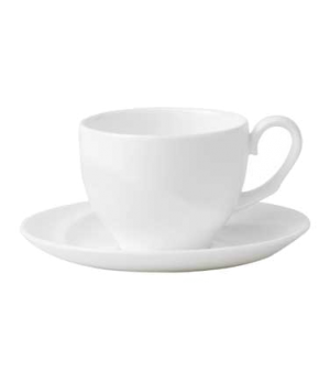 Solar Coffee Cup Saucer, dishwasher safe, bone china, white
