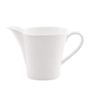 (0134) Fusion Cream Jug, 8-1/4 oz. (25.0 cl), large, handled, bone china, microw
