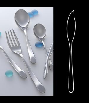 "Fish Knife, 8-1/4"", 18/10 stainless steel, WNK, Harlan (USA stock item) (minimum"