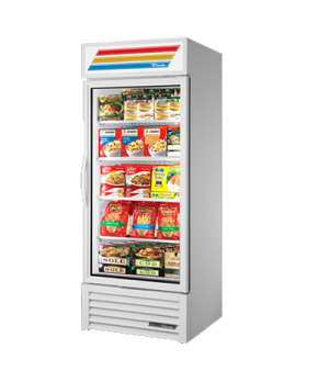 Freezer Merchandiser, one-section, True standard look version, -10° F, (4) shelv