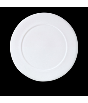 "Presentation Plate, 12-1/4"" dia., round, Distinction, Bianco, Noir (priced per c"