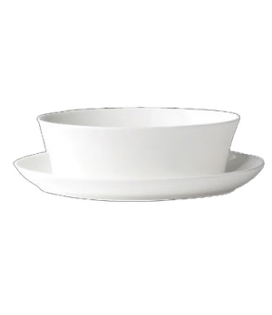 "(0111) Fusion Gravy Boat Stand Only, 9-5/8"" (24.5 cm), bone china, microwave saf"