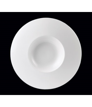 "Bowl, 13 oz., 12"" dia. OA, 6"" dia. medium well, Float, Monaco White (priced per"
