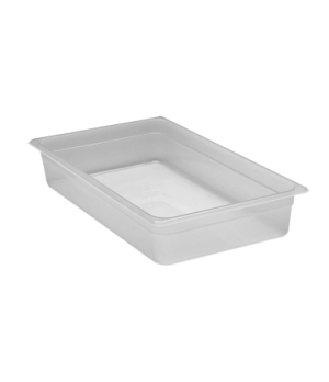 "Food Pan, full size, 4"" deep, translucent polypropylene, NSF"
