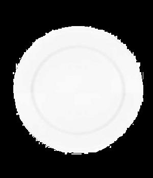 "Buffet Plate, 12-5/8"", round, premium porcelain, Millenia Bianca"