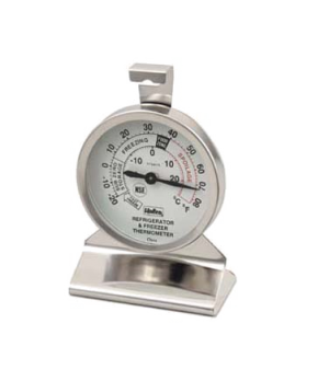 "Refrigerator/Freezer Thermometer, 2-3/8"" dial, 3-3/4""H, temperature range -20°"