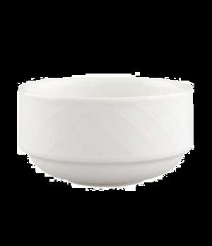 Cup, 8-3/4 oz., unhandled, stackable, premium porcelain, Bella