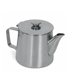 Contemporary Teapot, 12 oz., 18/8 stainless steel