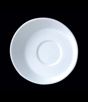 """Saucer, 4-5/8"""" dia., round, small, Distinction, Sheer, Monaco White (USA stock i"""