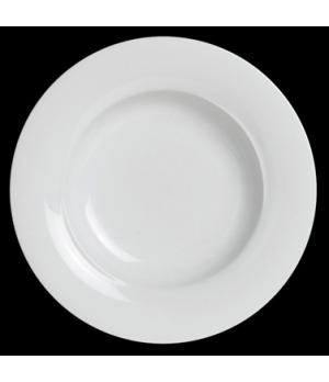 "Plate, 11"" dia., wide rim, deep, porcelain, Crucial Detail (priced per case, pac"