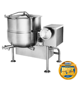 Kettle, Gas, Tilting, 40-gallon capacity, 2/3 steam jacket design, floor mounted