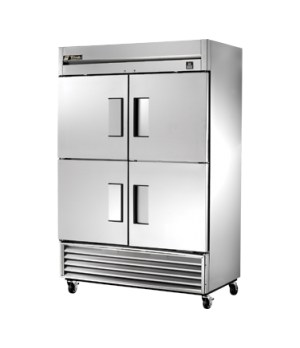 Freezer, Reach-in, two-section, -10°F, (4) stainless steel half doors, stainless