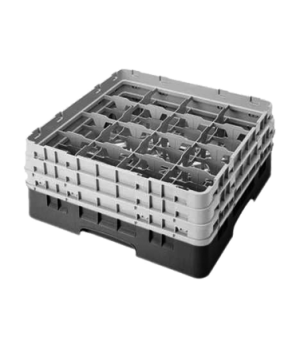 "Camrack® Glass Rack, with 3 extenders, full size, 16 compartments, 4-3/8"" max. d"