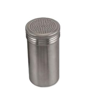 "Dredge, 16 oz., 2-5/8"" dia. x 5-1/2""H, universal holes, stainless steel, polishe"