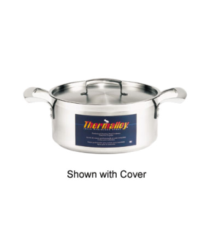 "Thermalloy® Brazier, 20 qt., 15-3/4"" x 5-3/4"", without cover, oversized stay co"