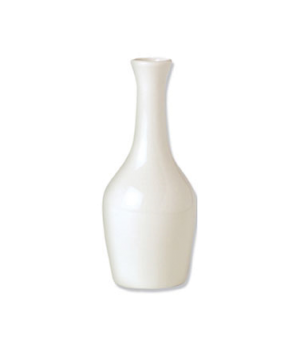 Bud Vase, vitrified china, Performance, Ivory, Claret (UK stock item) (minimum =
