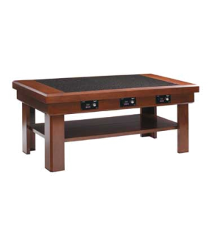 "Buffet Table with Induction Warmers, 60"" x 30"", available in 34"" or 36"" heights,"