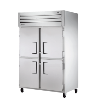 Refrigerator, Reach-in, +33°F to +38°F temperature range, two-section, self-cont