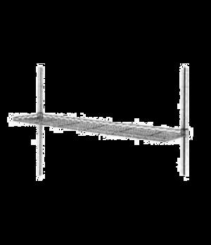 "Super Erecta® Shelf, wire cantilever, 24""W x 12""D, drop mat design, retaining ed"