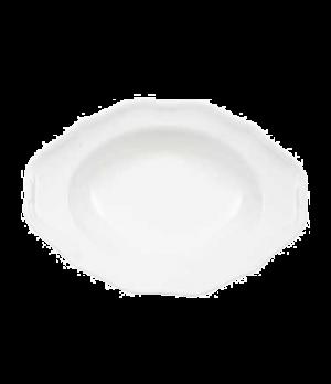 """Plate, 10"""" x 7-1/4"""", 11-3/4 oz., oval, deep, premium porcelain, La Scala"""